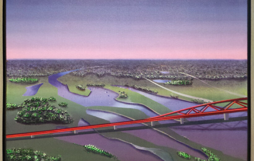 Spporbrug Zwolle hanzeboog vanuit de lucht
